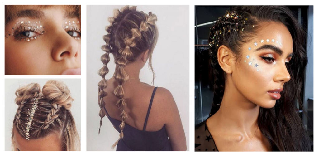 It's Party Season! Here Are Our Fave Christmas, NYE, Festival Hair & Makeup Looks -