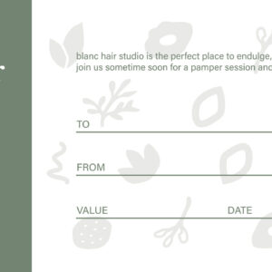 Gift voucher - Newcastle Hair Salon - Blanc Hair Studio
